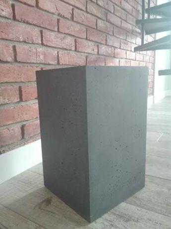Donica z betonu antracyt 40x25x25cm Nowa loftowa