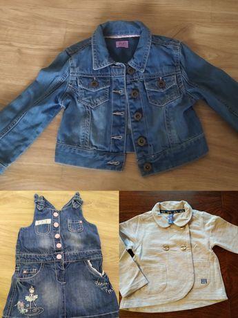 Zestaw ubranka dla dziewczynki rozmiar 92 stan idealny