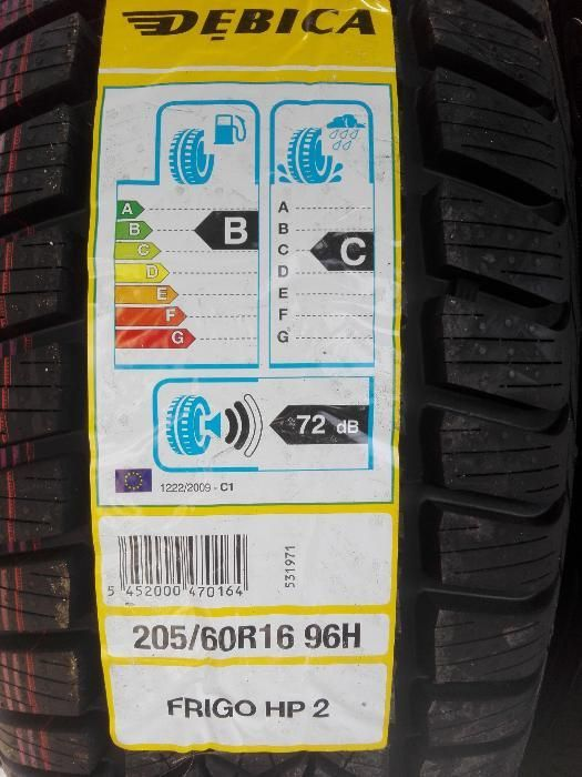 4x 205/60r16 Dębica Frigo HP2 96H XL nowe opony zimowe