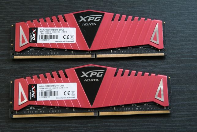 ADATA 32GB (2x16GB)DDR4 3000 MHz (Samsung B-die Dual Rank)
