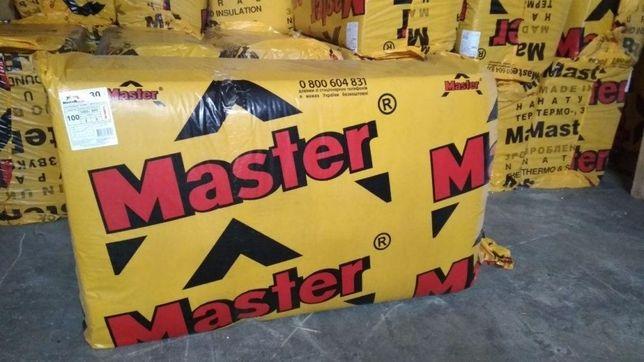 Базальтовая вата Master Rock 1000х600 252 грн за упаковку. Доставка