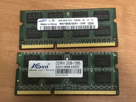 Pamięć ram ddr3 2x 2gb laptop