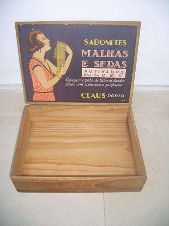 Caixa de Madeira - Sabonetes Claus