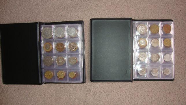 Monety świata w dwóch klaserach 192 sztuk każda inna