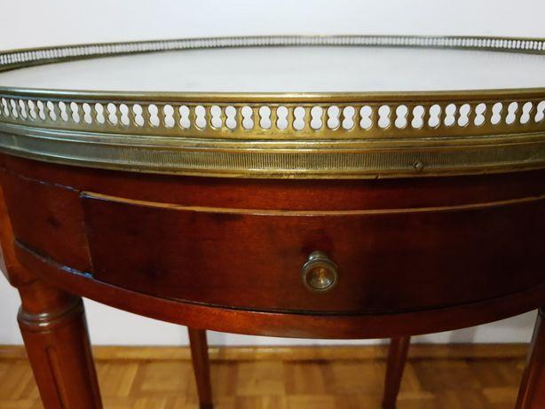 Francuski stolik typu bouillotte, styl Ludwik XVI