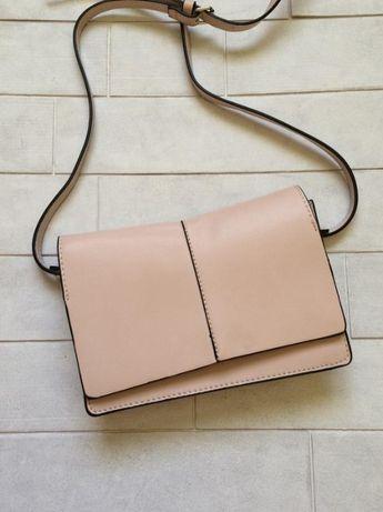 Пудровая сумочка mango,новая сумка манго оригинал, клатч