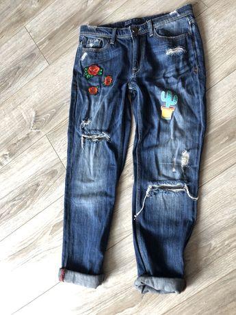 Zara Spodnie jeans dżins 32 boyfriendy