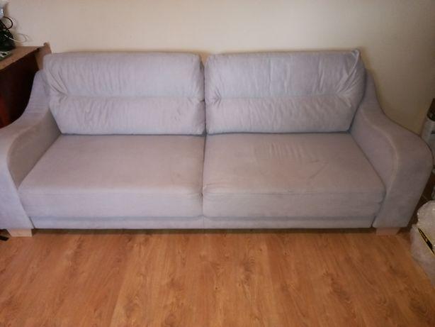 Łóżko + fotel kolor ecru