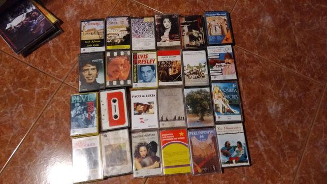 25 Cassetes de varios gostos