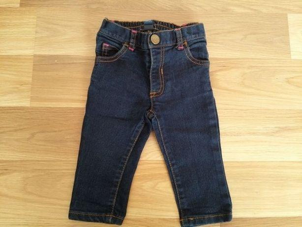 Spodnie spodenki jeansowe dla dziewczynki 9-12 m-cy
