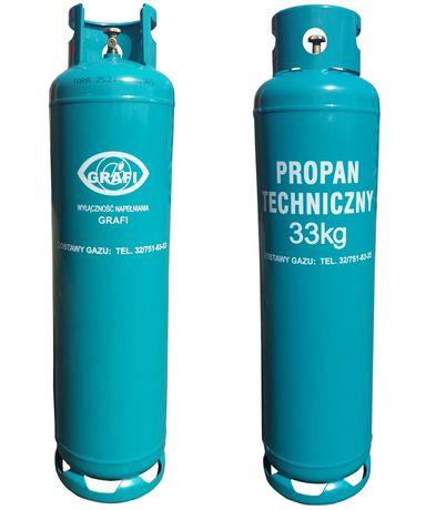Butla 33kg gaz propan butan do systemy grzewcze instalacja gazowa