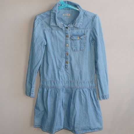 TCHIBO śliczna sukienka 122/128 z miękkiego jeansu