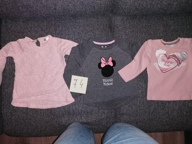 Ubranka dla dziewczynki roz 74