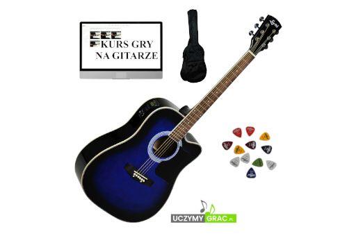 Gitara elektro - akustyczna EVER PLAY AP-400 CEQ BLB + POKROWIEC !
