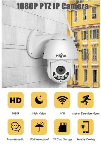 Hiseeu 1080P Беспроводная PTZ скоростная поворотная IP камера