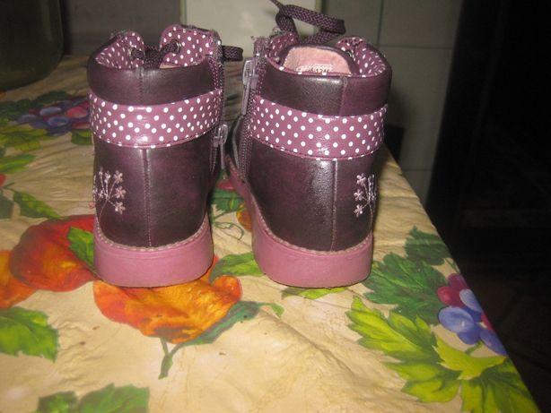 Кожаные ботиночки для девочки Lapsi 25 р. 15.5 см