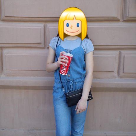 Комбинезон комбез джинсовый летний для подростка комбінезон під джинс