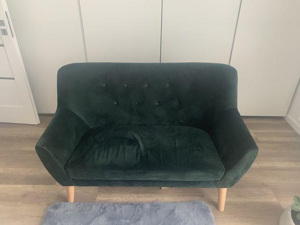 Sofa kanapa welurowa zielona