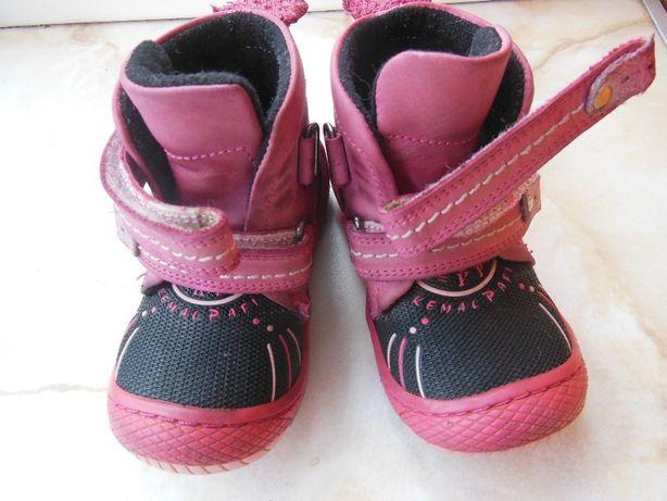 Демисезонные ботинки на девочку Kemal Pafi р. 21 кожа ортопед Турция