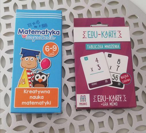 Karty edukacyjne Matematyka 2 zestawy