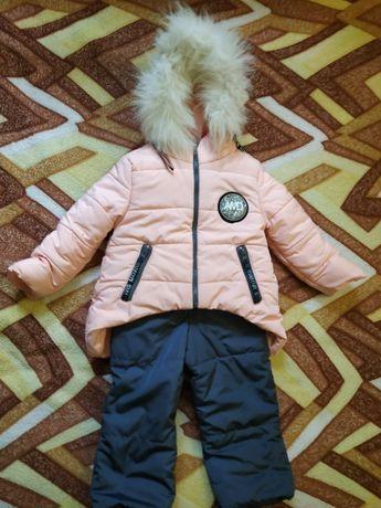 Комплект двух курток(зимняя и демо)+ комбинезон.