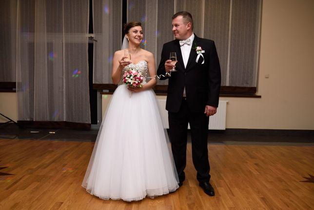 Okazja!!! Piękna suknia ślubna princesska. PATRYCJA PARDYKA