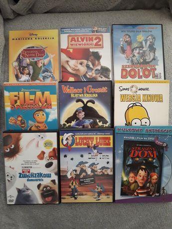 bajki dvd simpsons,alvin,szeregowiec dolot, sekretne życie zwierzaków