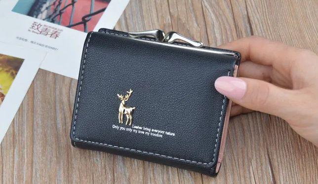 Женский кошелек с принтом. Экокожа