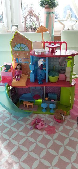 Polly Pocket domek piętrowy scena auto MEGA ZESTAW