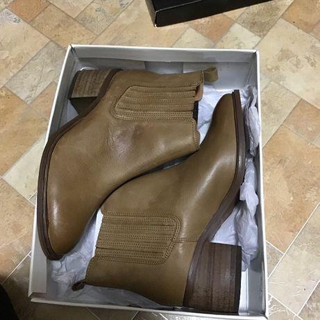 Черевики сапожки ботинки miss KG верблюжа шкіра дешево 38 , 39 p qwe