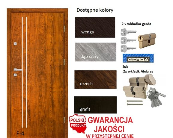 Drzwi WZMOCNIONE wewnątrz-klatkowe montaż i pełne wyposażenie w cenie