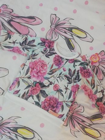 Bluza kwiaty cudo