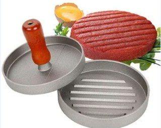 Пресс для гамбургеров и котлет металлический 9 см. Деревянная ручка Одесса - изображение 1
