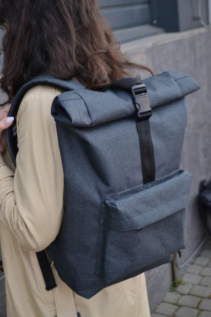 Рюкзак РОЛ ТОП 100% мужской-женский Roll Top / Рюкзак для ноутбука