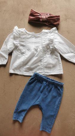Biała koszula Zara 68 cm