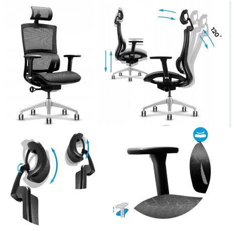 Fotel biurowy Ergonomiczny Regulacja podłokietniki MarkAdler 6.0 P-ń