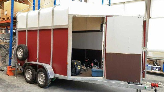 Atrelado roulotte de transporte para 2 cavalos