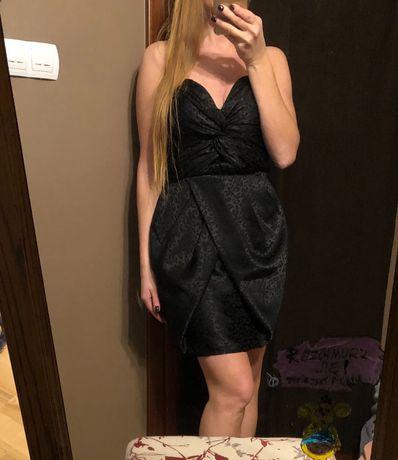 Czarna sukienka mini h&m , r. 38