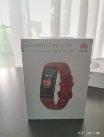 Huawei band 4 pro czerwony