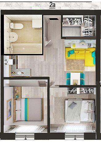 Рассрочка 0%. квартира 43м2, ремонт, мебель, тренажёрный зал, сад