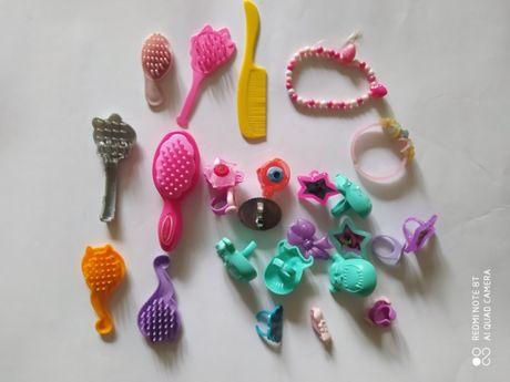 Детская бижутерия браслет кольца кулон расческа для кукол