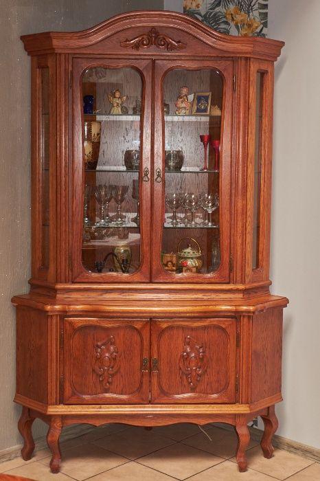 Sprzedam meble stylizowane dębowe. Witryna narożna i stolik RTV. Kobylarnia - image 1
