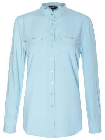 Koszula długi rękaw damska 38 M Niebieska błękitna tiffany blue