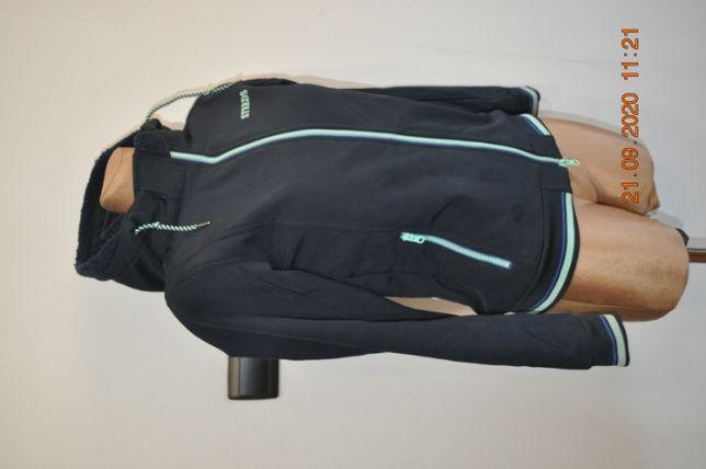 kurtka Steeds, r. 152 cm, softshell, młodzieżowa, granatowa, bdb