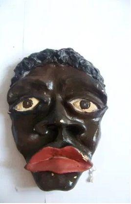 Маска Афроамериканц Нерг ручная работа статуэтка для интерьера