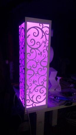 Lampiony LED dekoracje stolik, wesele, bar