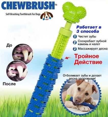 Зубная щетка для собак Сhewbrush Chewdrush выглядит,как игрушечная кос