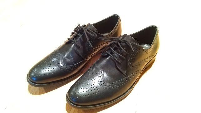 Nowe eleganckie buty skórzane Sergio Rizzi czarne rozm. 41