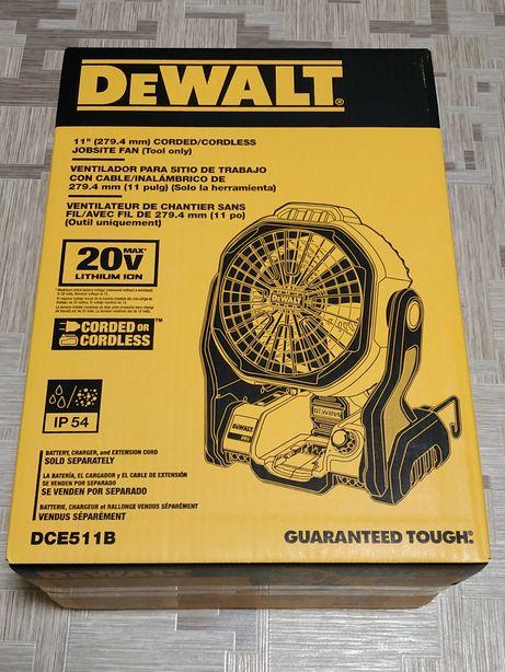 Аккумуляторный вентилятор DeWalt DCE511