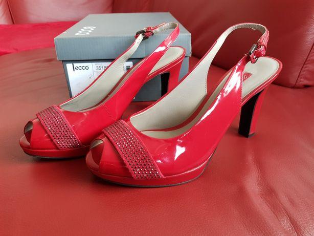 Nowe szpilki sandały ecco Tunis Chili Red r. 40